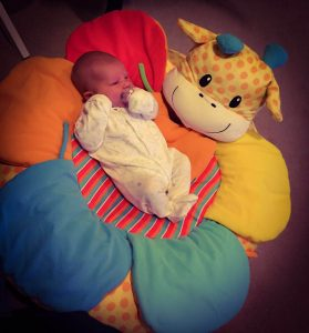 Baby safari sit me up cosy giraffe from mothercare