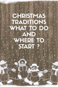 Christmas tradidion