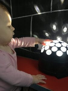 Sensory play exploring lights