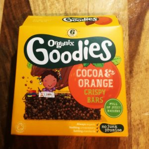 Organix coco and orange crispy bars