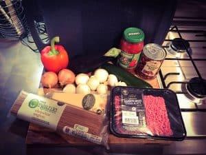 spaghetti bologonaise with dolmio