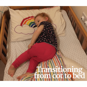 Transitioning from a cot to a bed: see how we have got on