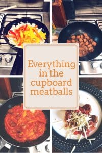meatballs are a quick and easy family meal. Here are my everything in the cupboard meatballs #meatballs #familymeal #easytomake #stressfreetea