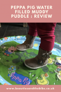 Peppa Pig Water filled muddy puddle lots of no mess fun for babies and toddlers