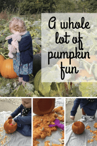 A whole lot of pumpkin fun from pumpkin picking to carving pumpkins with some easy designs and craft ideas