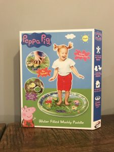 Peppa pig water filled muddy puddle