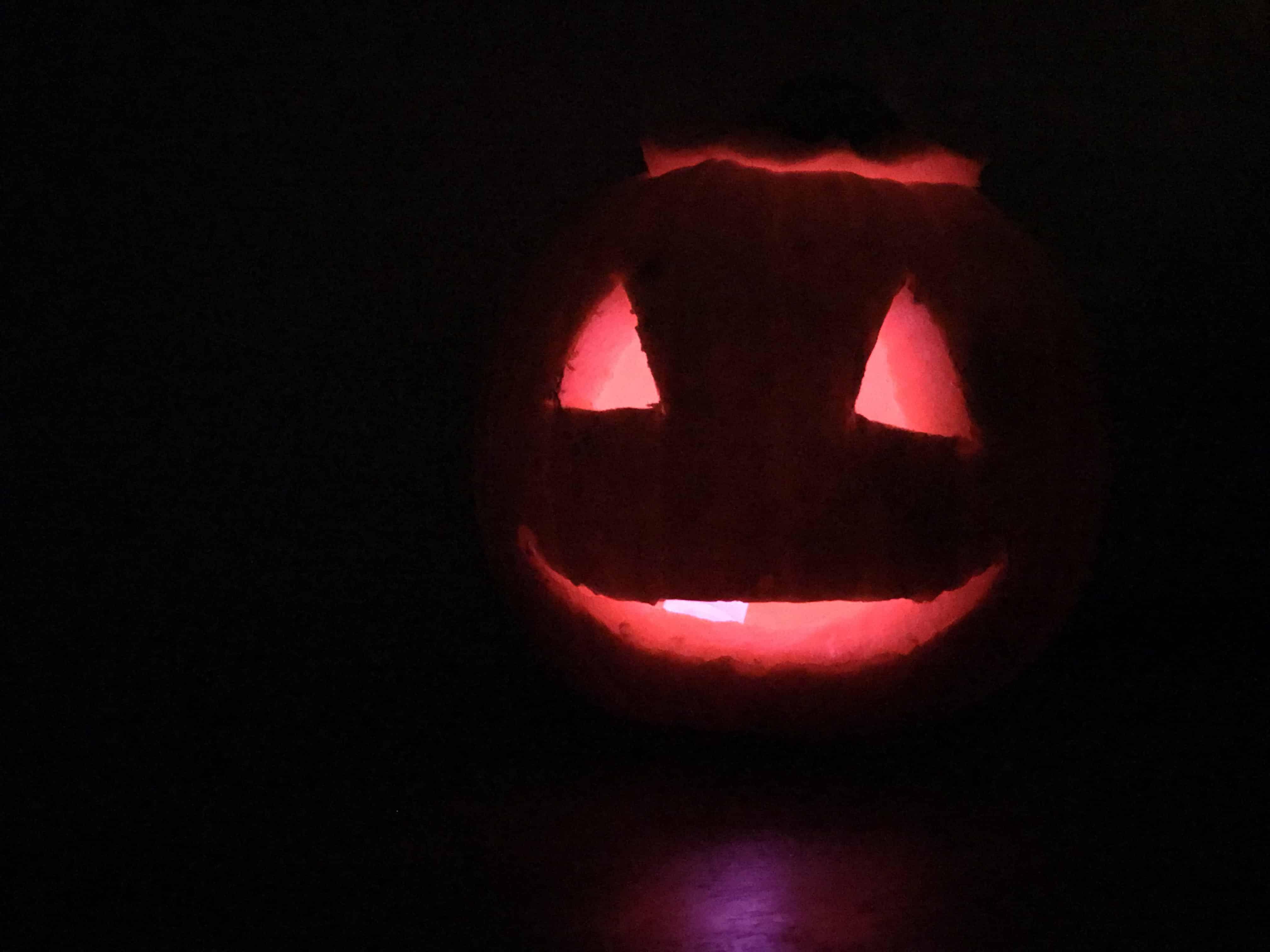 Pumpkin by night
