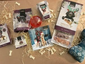 Webbox Christmas dog treats and toys