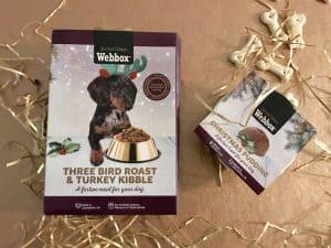 Webbox dog Christmas dinner