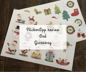 Christmas stickers with StickerApp review and giveaway