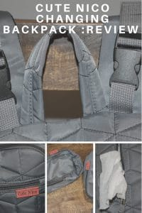 Cute Nico changing backpack review