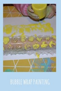 bubble wrap painting is a great and easy activity to do with toddlers and older children