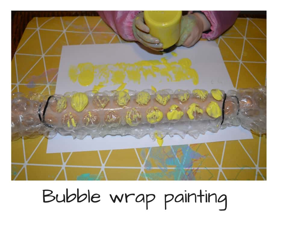 bubble wrap painting