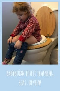 the babybjorn toilet training seat alows children to be confident whilst feeling safe and secure on the toilet