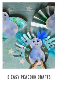 Looking for easy peacock crafts to do with children of all ages. Well look no further #crafts #kidscrafts #childrencrafts #peacocks