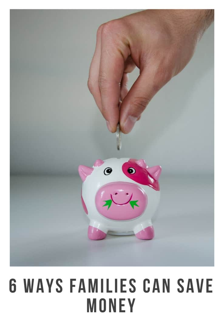Want to save some money ? Here are my top 6 ways that families can save money easily #save #saving #frugal #families #money