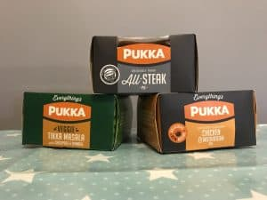 making a chippy tea at home with Pukka pies