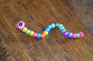 Beaded snake crafts for children