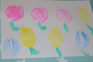 potato print flower crafts