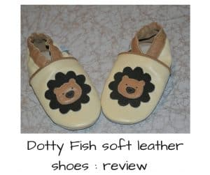 Dotty fish soft leather shoes