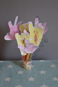 Hand and foot print flower crafts