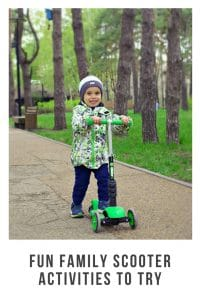 Fun Family Scooter Activities to Try #outdoorfun #childrenactivities #physicalskills #familyfun
