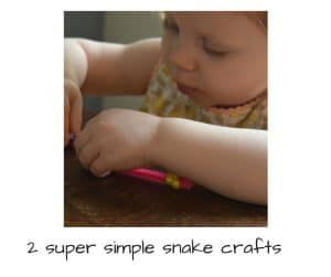 super simple snake crafts