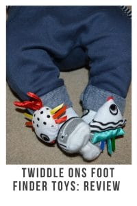 Twiddle Ons are fantastic foot finder toys that wont slip of your babies feet. With colour,textures,patterns and bells #development #childdevelopment #babyproducts #review #parenting #milestones