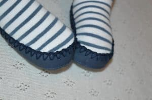 Beautiful Mocc Ons that keep babies feet warm