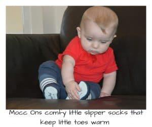 Mocc Ons comfy little slipper socks that keep little toes warm
