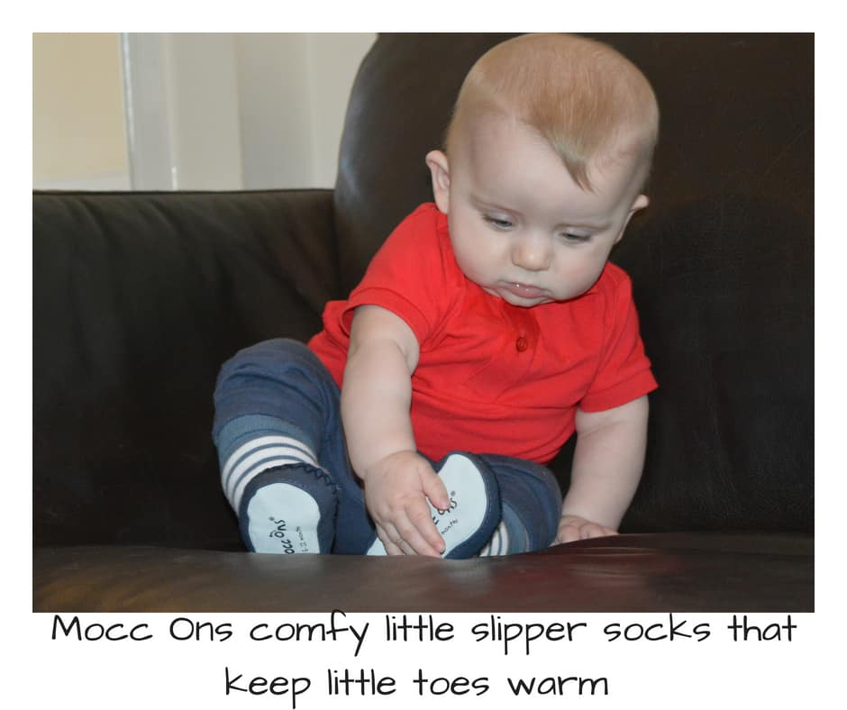 Mocc Ons comfy little slipper socks that keep little toes warm