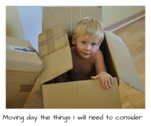 Things to consider on moving day