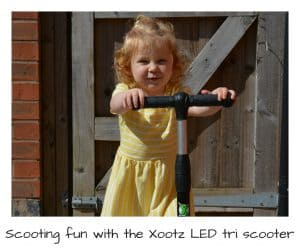 Xootz LED tri scooter