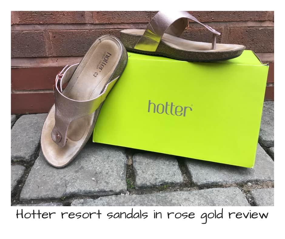 Hotter resort sandals rose gold