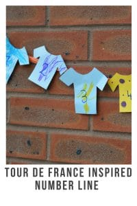 Tour de France is a fantasic bike race held over numerous days. Here is our Tour de France inspired t-shirt number line #crafts #bike #tourdefrance