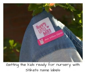 Getting the kids ready for nursery with Stikets name labels