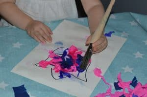 Beeding tissue paper flower craft