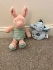 Hundred Acre wood piget and Eeyore
