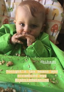 what i fed my baby during the first month of baby led weaning