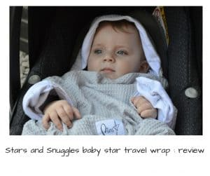 Stars and Snuggles baby star travel wrap review