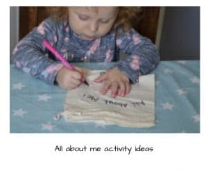 All about me activity ideas for the Early years foundation stage