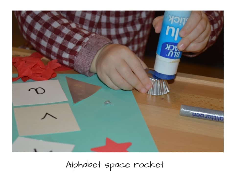 Alphabet space rocket