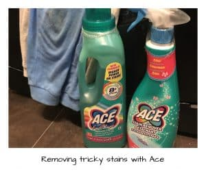 Removing stains with Ace