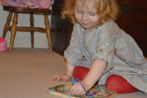 exploring colour with Hape toys from Wicked Uncle