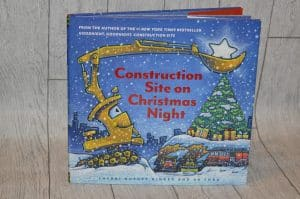 Construction site on christmas night perfect for a book advent
