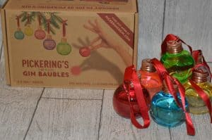 Pickering's Gin Baubles for Christmas