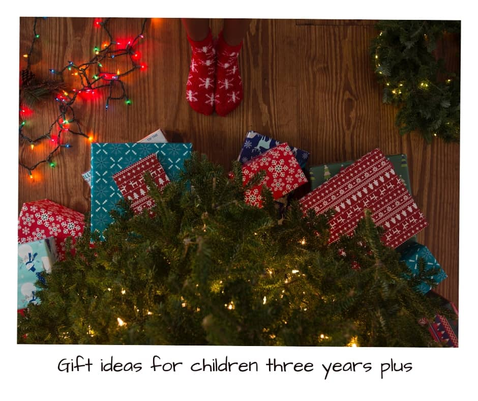 Christmas is fast approaching the shopping days left are getting less and less . SO here are some perfect gift ideas for children three years plus #giftguide #toddlergifts #preschoolgifts #giftsforthreeyearolds