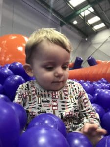 Alby In the ball pit at Inflata Nation