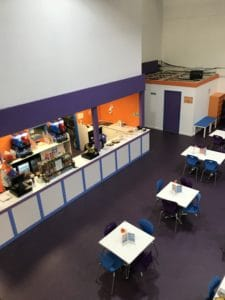 Cafe area at Inflata Nation Birmingham