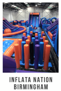 Inflata Nation Birmingham is a great day out for the whole family . Especially when going to one of their pre school only sessions #daysout #ukdaysout #familyfun #familytime #bouncycastle #partyideas